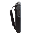 Rugged Case accessory for Linea Pro 5 1D with magstripe reader covered right sideways view CS-R-LP51D-STR-G-BK