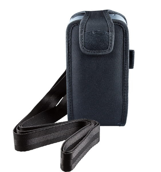 Closed Top Holster with Shoulder Strap for Linea Pro 5 with rugged case front view HOL-LP5-C-W-SHL