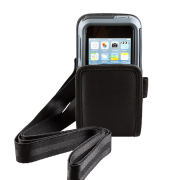 Open Top Holster with Shoulder Strap for Linea Pro 5 with rugged case front view HOL-LP5-O-W-SHL