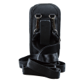 Closed Top Holster with Shoulder Strap for Linea Pro 5 with Rugged Case rear view of belt clip HOL-LP5-C-W-SHL