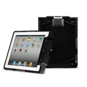 CS-T4R Rugged Case For Infinea Tab 4 for iPad 4 barcode scanner front and rear views