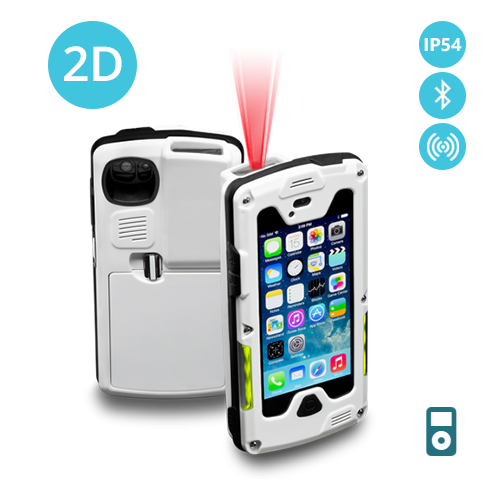 IX-I2DBTR-POD5-WH Infinea X 2D barcode scanner iPod Touch 5 and 6 RFID Bluetooth IP code