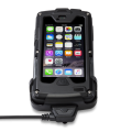 Heel cup charger for Infinea X for iPhone 5 attached to terminal, black version - CBL-CUP-IXPH5-BK