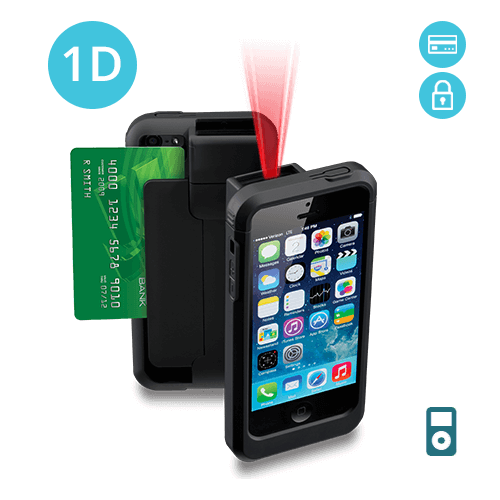 LP5-E-POD5 Linea Pro 5 1D Barcode Scanner for iPod Touch 5 and 6 with Encrypted Magstripe Reader