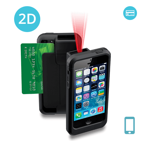 LP5-N2D-PH5 Linea Pro 5 2D Barcode Scanner for iPhone 5/5s with Magstripe Reader