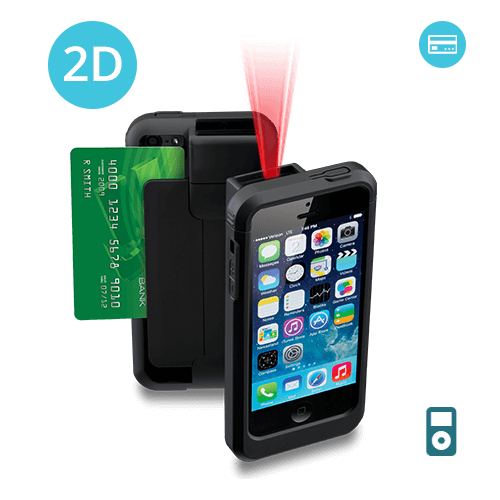 LP5-N2D-POD5 Linea Pro 5 2D Barcode Scanner for iPod Touch 5 and 6 with Magnetic Stripe Reader