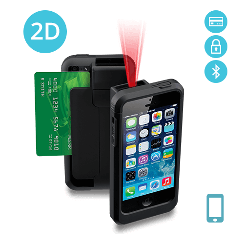 LP5-N2DBTE-PH5 Linea Pro 5 2D Barcode Scanner for iPhone 5/5s with Bluetooth and Encrypted Magstripe Reader