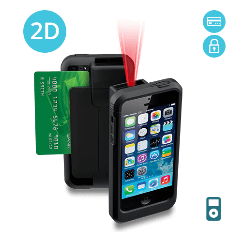 LP5-N2DE-POD5 Linea Pro 5 2D Barcode Scanner for iPod Touch 5 and 6 with Encrypted Magstripe Reader