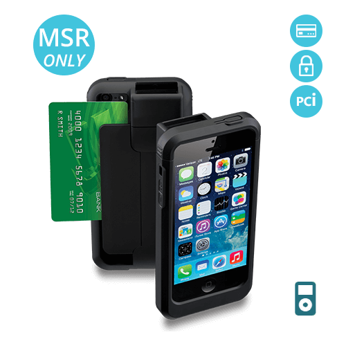 LP5-S-MS-POD5 Linea Pro 5 encrypted magstripe reader for iPod Touch 5 and 6 with PCI compliance