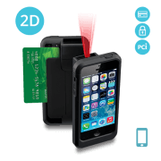 LP5-S-N2D-PH5 Linea Pro 5 2D Barcode Scanner for iPhone 5/5s with Encrypted Magstripe Reader and PCI Compliance