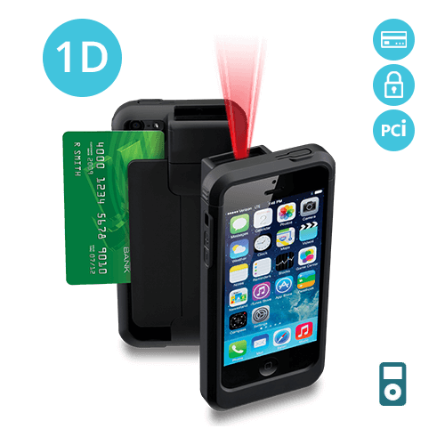 LP5-S-POD5 Linea Pro 5 1D Barcode Scanner for iPod Touch 5 and 6 with Encrypted Magstripe Reader and PCI Compliance