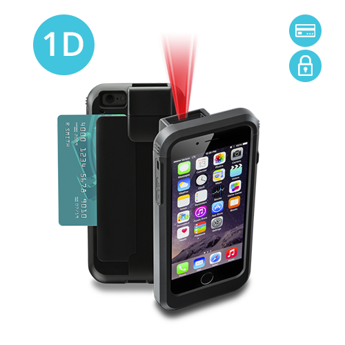 Linea Pro 6 1D barcode scanner for iPhone 6 with Encrypted Magstripe Reader LP6-E-PH6