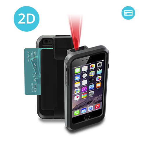 LP6-I2D-PH6 Linea Pro 6 2D iPhone 6 barcode scanner with magnetic card reader