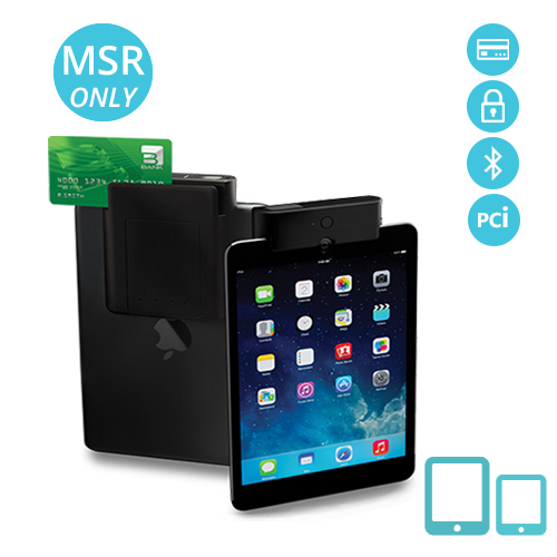 iTMS-S-MSBT Infinea Tab M for iPad encrypted magnetic stripe reader Bluetooth and PCI compliance