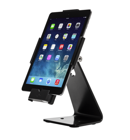 Secure Desktop Stand for Infinea Tab M barcode scanner for iPad Air black colour including device vertical - ST-SEC-AIR-B