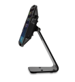 Secure Stand for Infinea Tab M barcode scanner for iPad Air black colour including device sideways view - ST-SEC-AIR-B