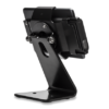 Secure Desktop Stand for Infinea Tab M barcode scanner for iPad mini black colour including device back view horizontal - ST-SEC-M-B