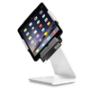 Secure iPad Stand for Infinea Tab M barcode scanner for iPad mini white colour including device rotated to the side - ST-SEC-M-W