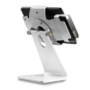 Secure iPad Stand for Infinea Tab M barcode scanner for iPad mini white colour including device back view horizontal - ST-SEC-M-W