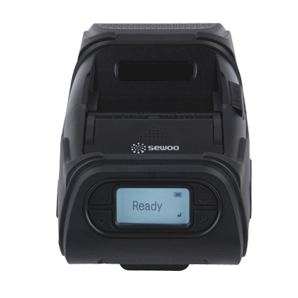 LK-P12PSB Sewoo 2″ Receipt and Label Mobile Printer with Peeler and Bluetooth full front view