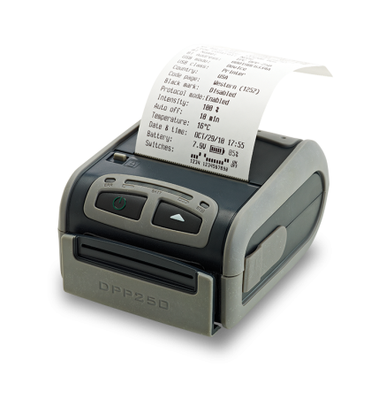 "2"" Infinite Peripherals mobile thermal printer with Bluetooth, MSR and Smart Card Reader- DPP-250MSBTSC"
