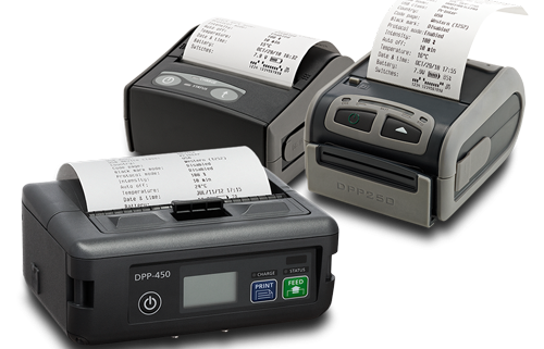 "IPC mobile printers general overview - 2"" printer 3"" printer 4"" printer - receipt and label"