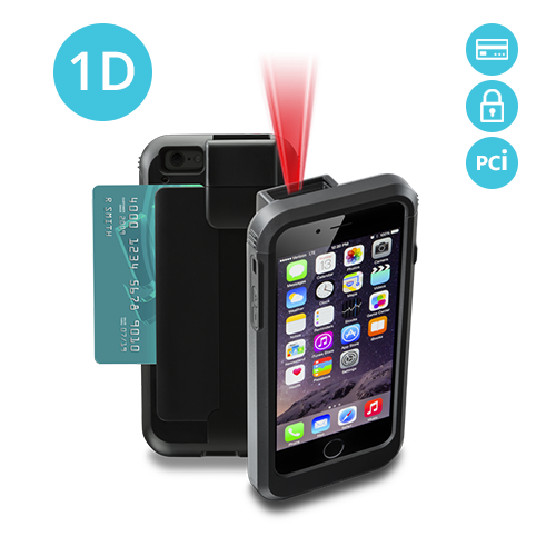 Linea Pro 6 1D barcode scanner for iPhone 6 with Encrypted Magstripe Reader and PCI Compliance - LP6-S-PH6