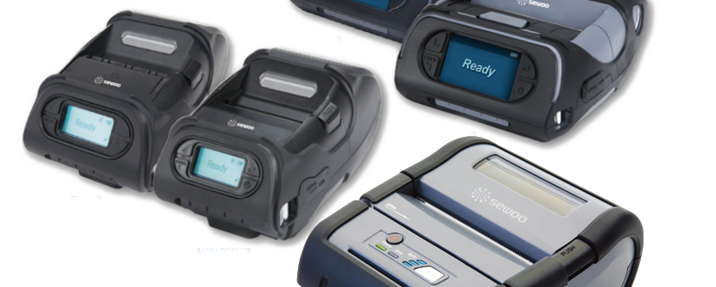 "Sewoo mobile printers general overview - 2"" 3"" 4"" receipt and label printers with wifi and bluetooth"