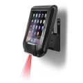 IO-O2D-A-BK Infinea Omni scanner for iPad Air side view with scanner beam