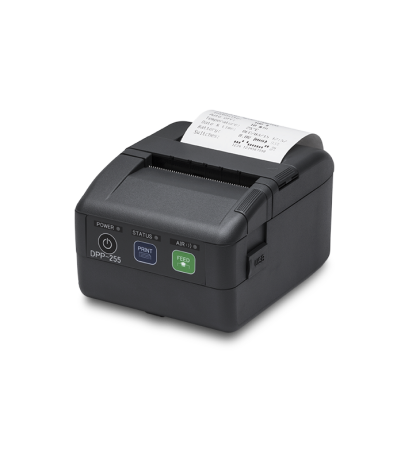 DPP-255-BT 2″ Mobile Thermal Printer with Bluetooth three-quarters view