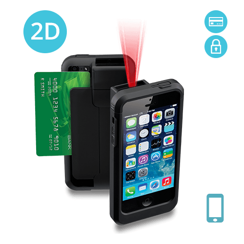 LP5-N2DE-PH5 Linea Pro 5 2D Barcode Scanner for iPhone 5/5s with Encrypted Magstripe Reader