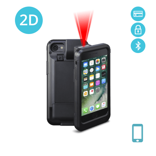 Linea Pro 7 iPhone 7/8 & iPhone 6/6s 2D Barcode Scanner Encripted  MSR-BT(LP7-ZS2DBTE-PH7)